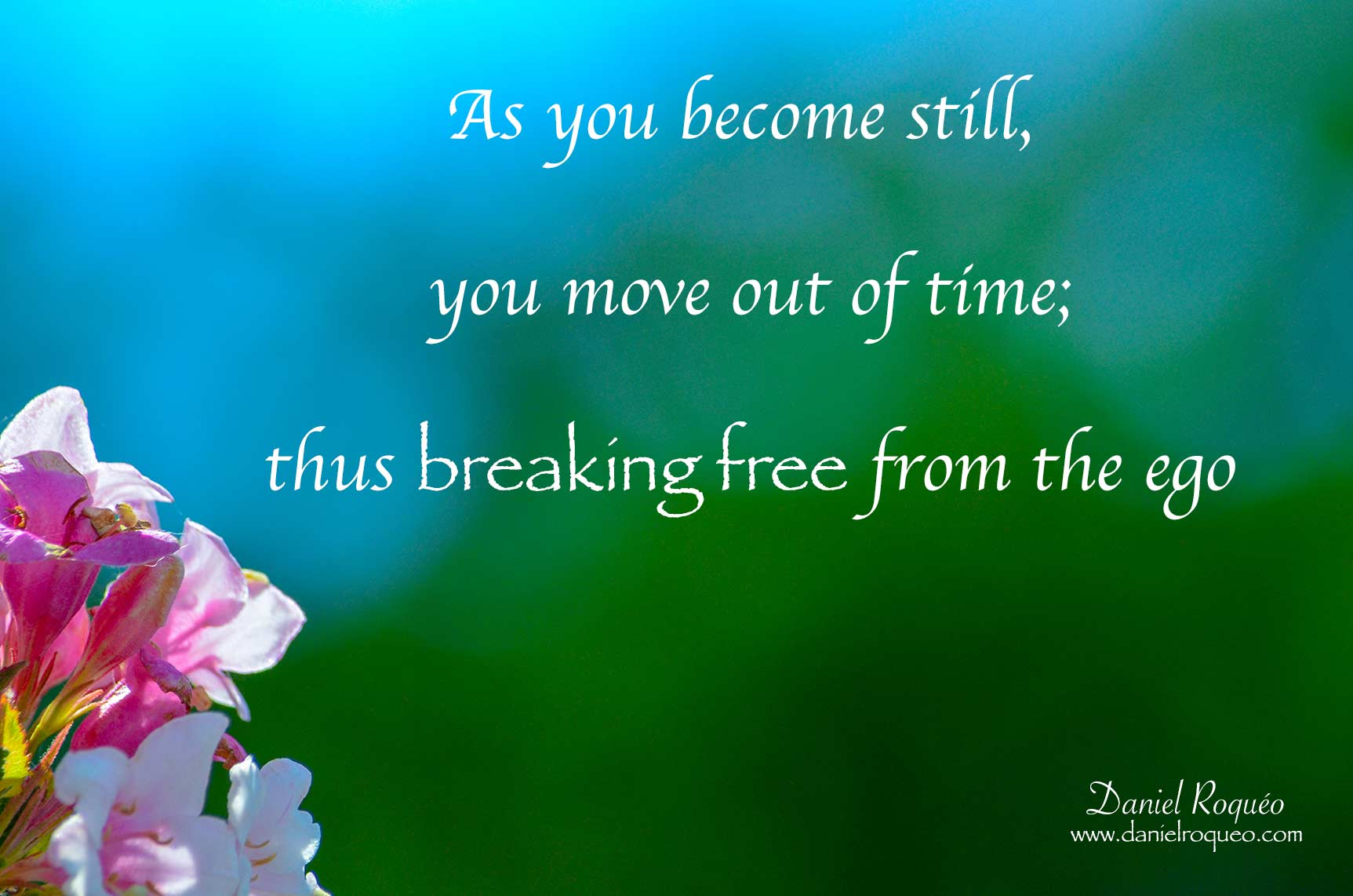 as you become still you break free from the ego