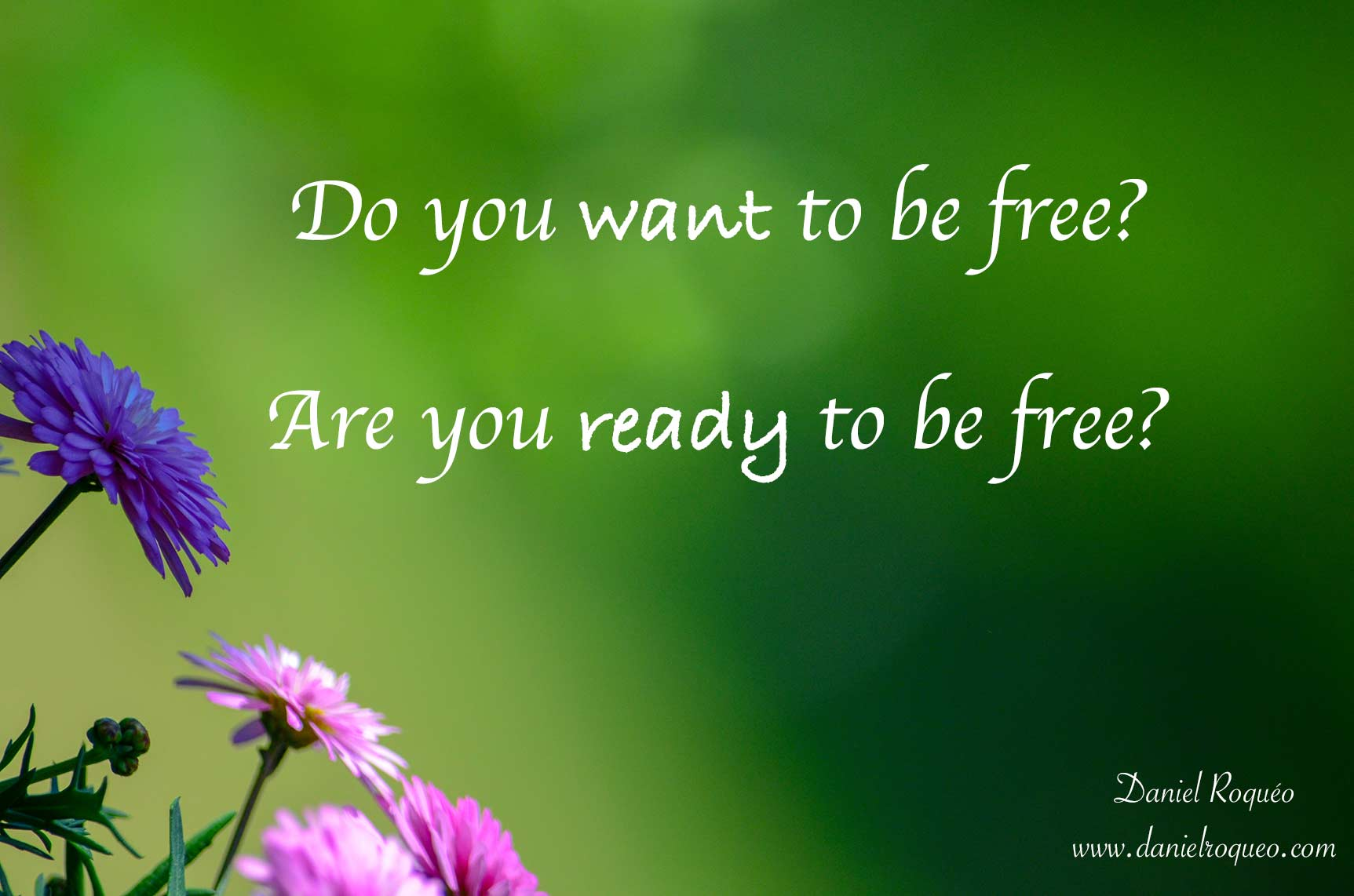 Do you want to be free? Are you ready to be free?